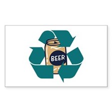 Recycle Beer Rectangle Decal