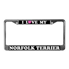 I Love My Norfolk Terrier License Plate Frame