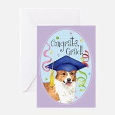 Welsh Corgi Graduate Greeting Card