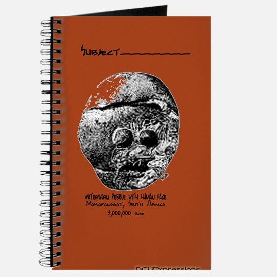 Waterworn Pebble with Human Face Notebook