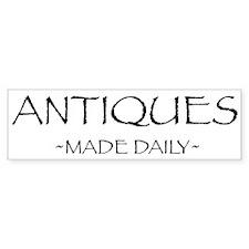 Antiques Made Daily Bumper Car Sticker