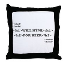 Html Throw Pillow