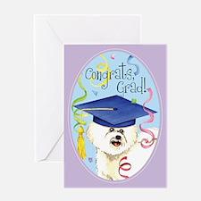 Bichon Graduate Greeting Card