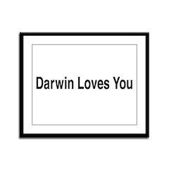 Darwin Loves You Framed Panel Print