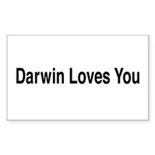 Darwin Loves You Rectangle Decal