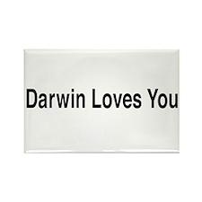 Darwin Loves You Rectangle Magnet
