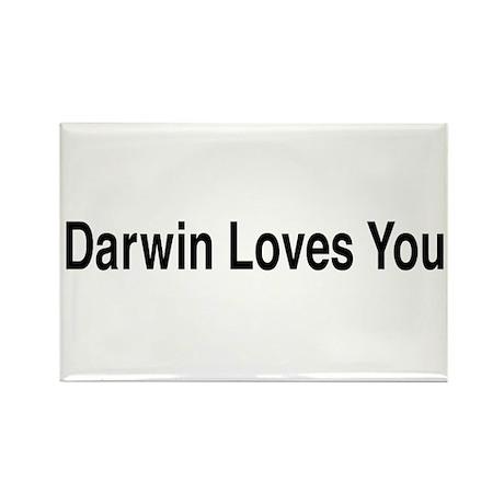 Darwin Loves You Rectangle Magnet (100 pack)