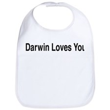 Darwin Loves You Bib
