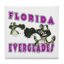 Florida Everglades Alligators Tile Coaster