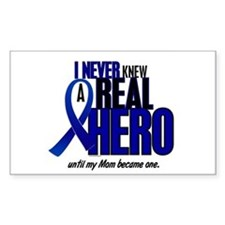 Never Knew A Hero 2 Blue (Mom) Rectangle Decal