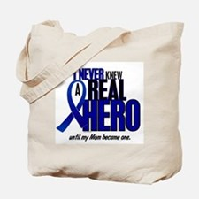Never Knew A Hero 2 Blue (Mom) Tote Bag
