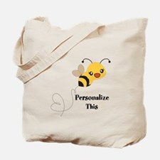 Personalized Cute Bumble Bee Tote Bag