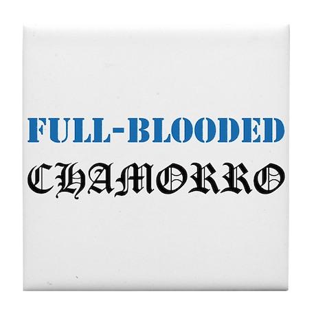 Full-Blooded Chamorro Tile Coaster
