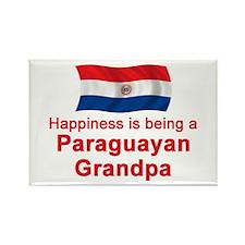 Happy Paraguayan Grandpa Rectangle Magnet