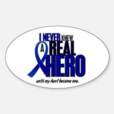 Never Knew A Hero 2 (Aunt) Oval Decal
