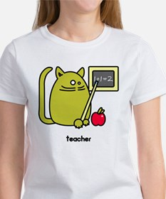Teacher Kat - Green Cat Design Tee
