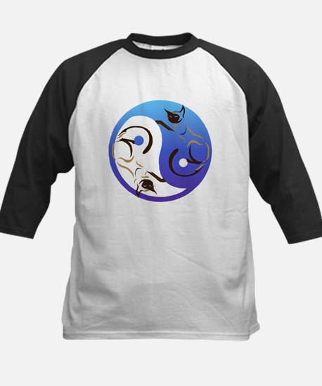 YinYang Cats Kids Baseball Jersey