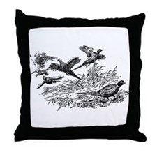 Pheasants Throw Pillow