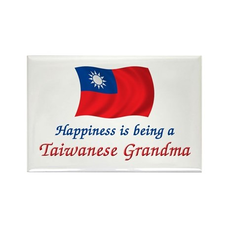 Happy Taiwanese Grandma Rectangle Magnet