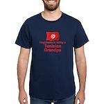 Happy Tunisian Grandpa Dark T-Shirt