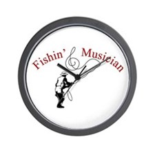 Fishin Musician Wall Clock