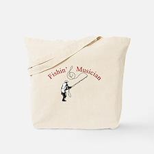 Fishin Musician Tote Bag