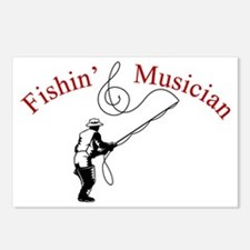 Fishin Musician Postcards (Package of 8)