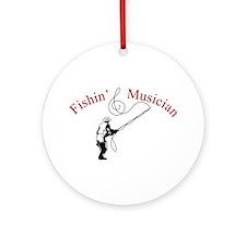 Fishin Musician Ornament (Round)
