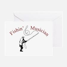 Fishin Musician Greeting Card