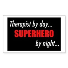 Superhero Therapist Rectangle Decal