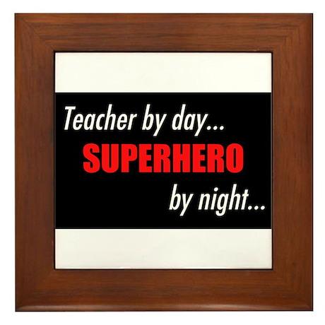 Superhero teacher Framed Tile