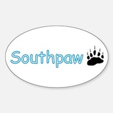Southpaw (Bear) Oval Decal