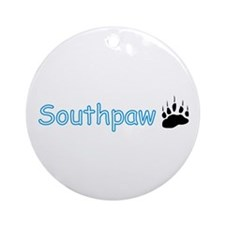Southpaw (Bear) Ornament (Round)