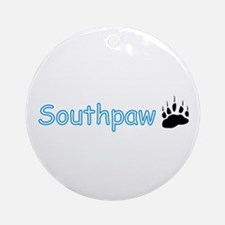 Southpaw (Bear) Ornament (Round)