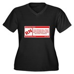 Rated RN Women's Plus Size V-Neck Dark T-Shirt