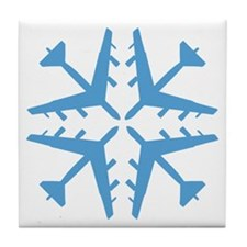 B-52 Aviation Snowflake Tile Coaster