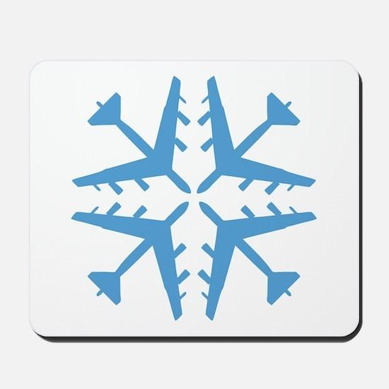 B-52 Aviation Snowflake Mousepad