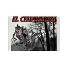 Chupacabra in the Woods 6 Rectangle Magnet