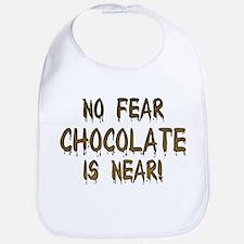 No Fear Chocolate Is Near! Bib
