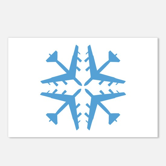 B-52 Aviation Snowflake Postcards (Package of 8)