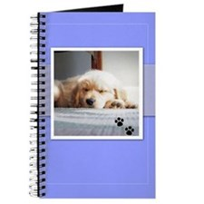 Sleeping Golden Puppy Journal
