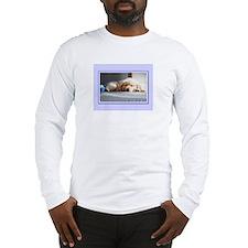 Sleeping Golden Puppy Long Sleeve T-Shirt