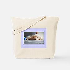 Sleeping Golden Puppy Tote Bag