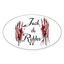 Bloody Hands Jack Oval Decal