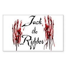 Bloody Hands Jack Rectangle Decal