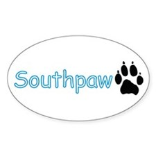 Southpaw (Wolf) Oval Decal