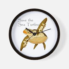 Save Sea Turtles Wall Clock