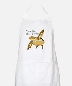 Save Sea Turtles BBQ Apron