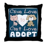 Give Love to Get Love Throw Pillow