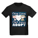 Give Love to Get Love Kids Dark T-Shirt